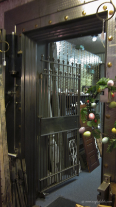 This particular antique shop was once a bank...still has the vault and all.