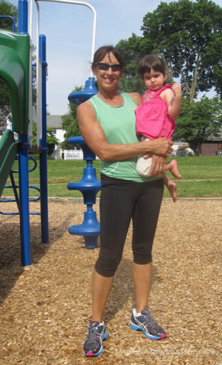 Grandma's last day at the park with Lola.