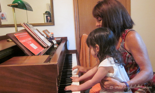 This trip, I learned my mom could play the piano.