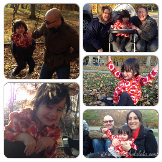 A little photo collage from Lola's preschool hayride and picnic.