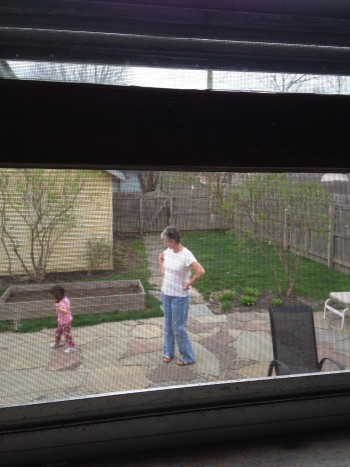 I've waited a long time to see my little girl playing outside as I look out my kitchen window.